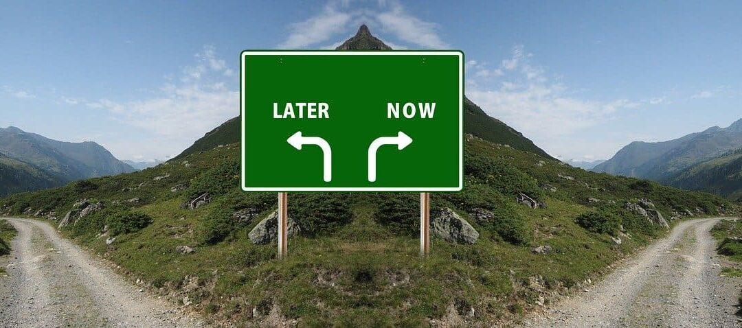 signo decisión ahora o después dejar de procrastinar